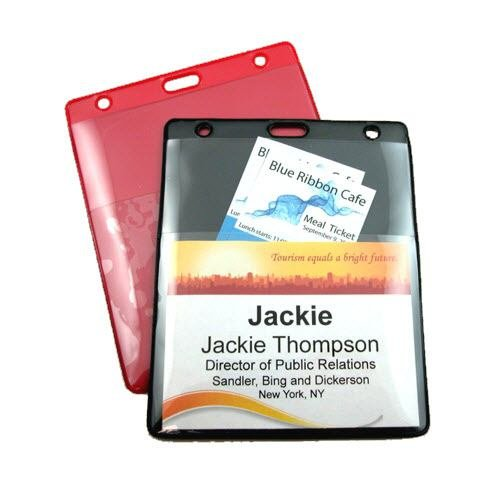 "4"" x 4 7/8"" Deluxe Event 2 Pocket Holder - Slot"