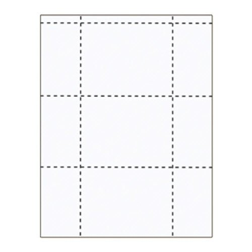 "4 3/8"" x 3 1/2"" All-In-One Large Inserts - 250 pack"