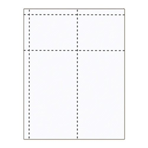 "4"" x 7 1/2"" Large 2 Pocket Inserts - 250 pack"