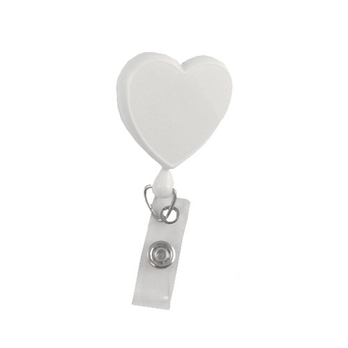 Heart Badge Reel with Swivel Bulldog Clip - All Sales Final