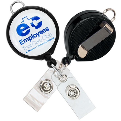 Imprinted Loop Badge Reel - Belt Clip