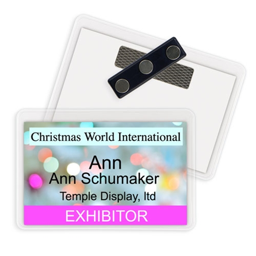 "3 1/2"" x 2 3/16"" ID Holder - 3 TP Magnet"