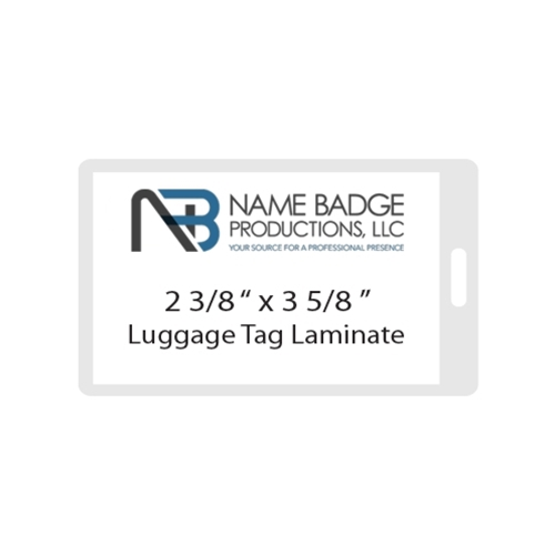"2 3/8"" x 3 5/8""  Luggage Tag Laminate - Slot"