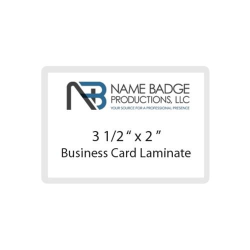 "3 1/2"" x 2"" Business Card Laminate"