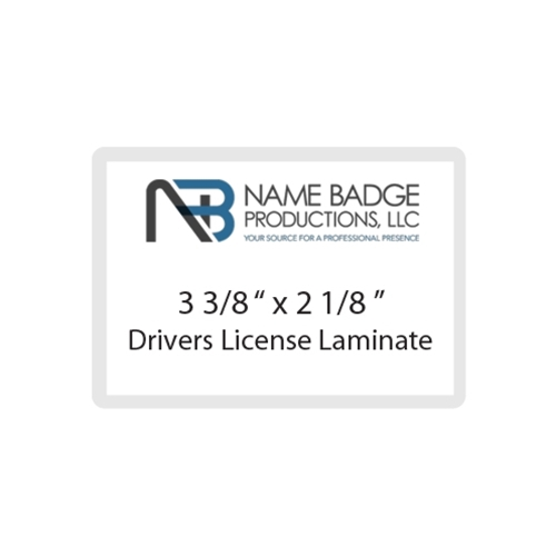 "3 3/8"" x 2 1/8"" Drivers License Laminate"