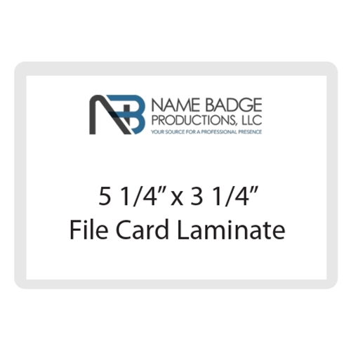 "5 1/4"" x 3 1/4"" File Card Laminate"