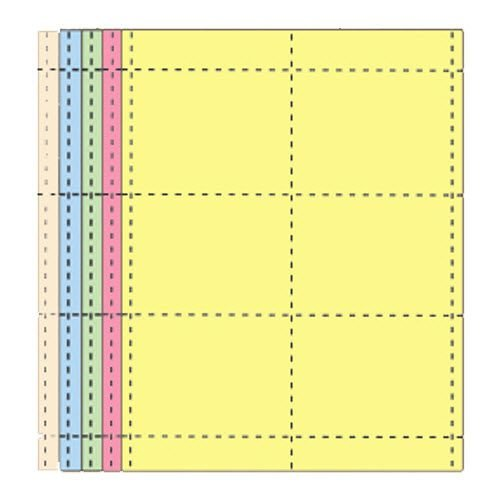 "4"" x 3""  Multi-Pack Name Badge Inserts - 1000 pack"