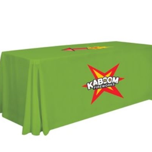 6' Table Cover - Full Color Print - 2 Locations