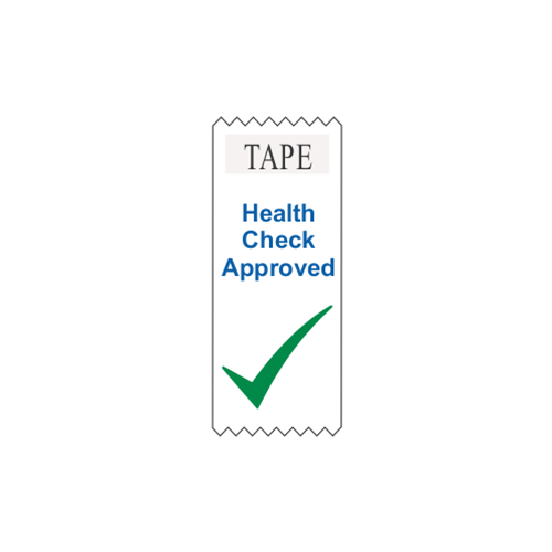 "4"" EZ Read Vertical Ribbon - Health Check Approved"