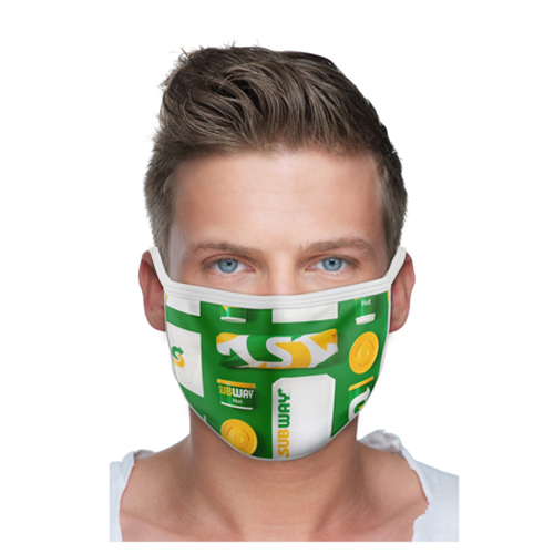 2 Ply Sublimated Polyester Face Mask with Pocket