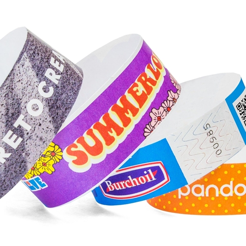 Full Color Tyvek Wristbands