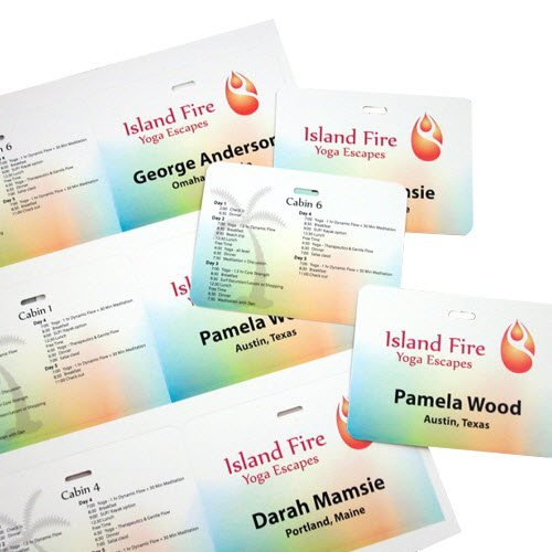 Personalized Full Color - Double-sided Card Badge