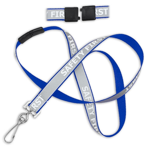 "5/8"" Reflective Breakaway ""Safety First"" Lanyard"