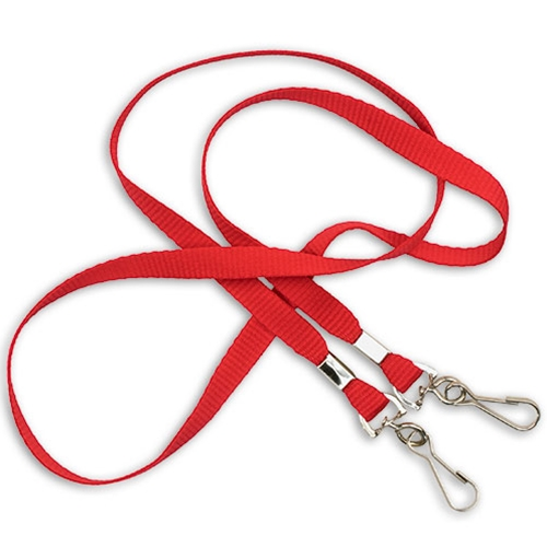 "3/8"" Cotton Lanyard - 2 Whistle Clips"