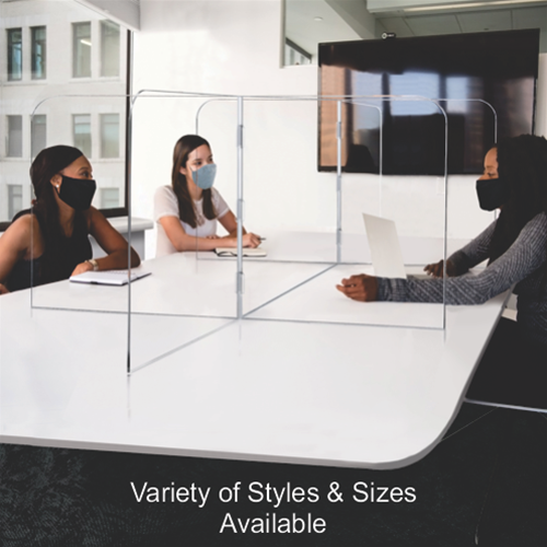 Multi-Person Tabletop Sneeze Guards (Variety of styles & sizes available)